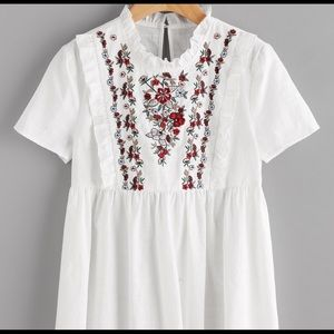 NWT Embroidered Top